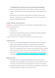 Introduction To Ir Essay Plan Examples Of Feminism Usyd