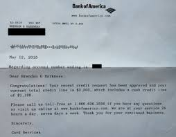 Bunch Ideas Of Bank Of America Credit Card Approval Letter On Credit