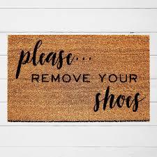 Doormat please remove shoes doormat images : Please Remove Your Shoes Doormat – Urban Owl