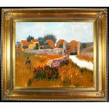 farm house in provence by vincent van gogh framed painting