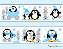 image is loading penguin wallpaper border wall art decal baby boy  on penguin wall art for nursery with penguin wallpaper border wall art decal baby boy nursery arctic