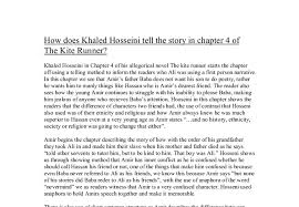how does khaled hosseini tell the story in chapter of the kite  document image preview