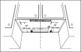 Microwave Installation Template Under Cabinet Dimensions31