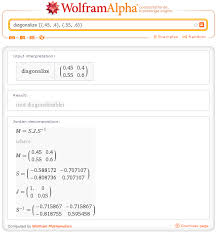 however wolfram alpha tells me this matrix is in fact not diagonalizable a k a defective