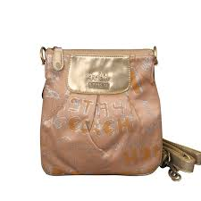Coach Fashion Poppy Small Apricot Crossbody Bags EQW