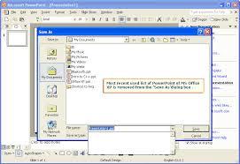 Tweak Library Clear The Save As Mru List Of Powerpoint Of Ms Office Xp