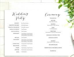 Wedding Template Microsoft Word Wedding Program Template