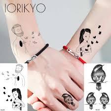 парные временные тату наклейки женские абстрактные боди арт