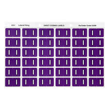 Avery 8383 Avery 43309 Alphabetical I Side Tab Colour Coding Labels 25 X 38 Mm 180 Pack