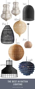 rattan lighting. The Prettiest Rattan Chandeliers To Update Your Home With Lighting
