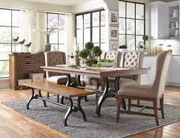arlington round sienna pedestal dining room table w chestnut finish. the arlington house dining collection features a metal, urban style trestle table, comfortable upholstered round sienna pedestal room table w chestnut finish .