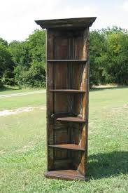 diy old door projects corner bookshelf from an old door so cool crafts diy projects