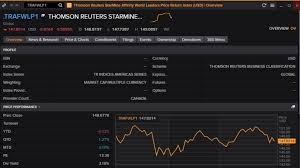 Global Indices Live Charts Custom Index Refinitiv