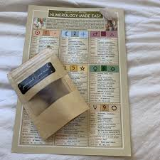 Easy Numerology Chart Brand Spanking New Numerology Made Easy Chart Depop