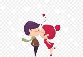 kiss drawing love cute young kissing