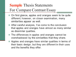 comparison contrast essay ppt video online  sample thesis statements for compare contrast essay
