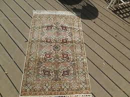 vintage silk rug hand knotted chinese carpet wall hanging embroidered ends