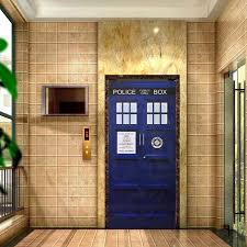 new doctor who wall decal blue tardis fathead style door sticker graphic unique mural cosplay gifts 4 sizes create wall stickers custom vinyl wall decals