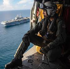 Tlantic Ocean Sept 7 2018 Naval Aircrewman Helicopter