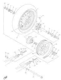 2015 yamaha v star 950 xvs95fcb rear wheel parts best oem rear wheel parts diagram for 2015 v star 950 xvs95fcb motorcycles