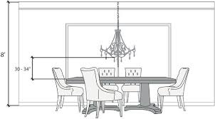 dining table chandelier height dining room light height photo of well height light over dining table