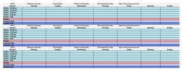 Marketing Planner Excel How To Create A Social Media Calendar