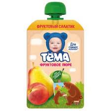 Детское питание <b>Тёма Фруктовое пюре</b> груша-яблоко | Отзывы ...