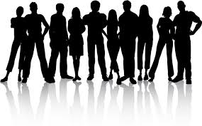 group of people clipart black and white.  Group With Group Of People Clipart Black And White P