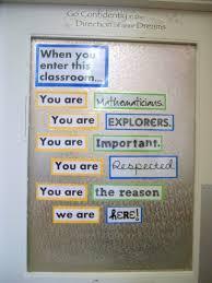 Middle School Classroom Decorating  Math
