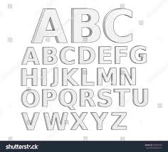 lettering fonts and rh pin drawing 3d alphabet letters by jpg