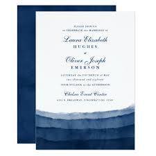 Wedding Invitations Watercolor Indigo Blue Watercolor Wedding Invitations Zazzle Com