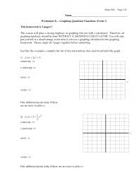solving quadratic equations by graphing worksheet the best th grade solving worksheets image collection downloa