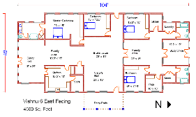 Vishnu Series  Pre Designed Vastu HomesVishnu East Facing Plan