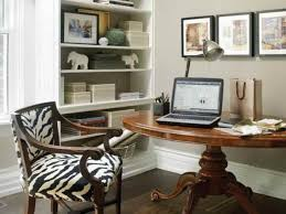 den office ideas. Grandiose Small Home Office With Den Decorating Ideas Added Rounded Teak Wood Laptop Table Also Zebras Seat Armchairs As Well Built In Cabinet E