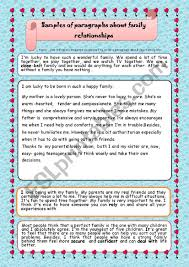perfect family essay essays about family relationships esl worksheet by majedimen