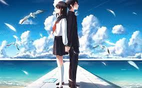 Anime Boy and Girl Love Wallpaper HD ...