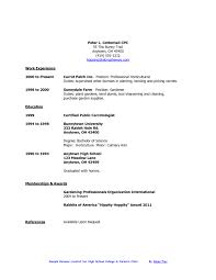 High School Student Resume Template Microsoft Word With No Work