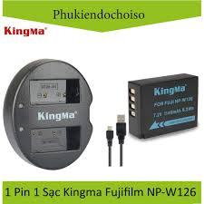 Pin sạc Kingma cho Fujifilm NP-W126 + Hộp đựng Pin, Thẻ nhớ