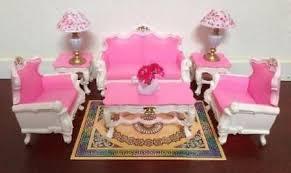 barbie size dollhouse furniture set. Vintage Dollhouse Furniture Miniature Lot Kit Set Mini Barbie Size Accessories O