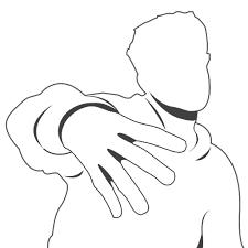 Nerf Blaster Pollice Illustrazione Per Libro Da Colorare Logo
