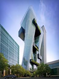 urban office architecture. Sustainable, Urban Office Architecture, Parramatta, Australia, Tower, Suspended, Warp, Architecture