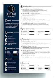 Modern Resumes Templates Mesmerizing Modern Resume Template Free Download Contemporary Templates