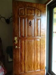 Gel stained white metal door with MINWAX GEL STAIN MAHOGANY as it got gooey  I used