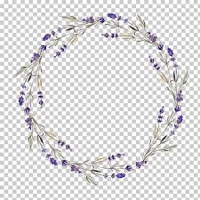 Purple And Blue Background Wreath Lavender Flower Purple Flowers Hollow Circles Green And