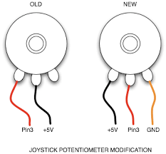 joysticks microcontrollers rahji com joystick potentiometer modification