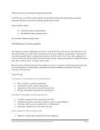 Employee Self Review Examples Allcoastmedia Co