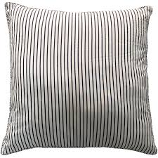 house home thin stripe cushion 60cm x 60cm white