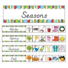 Season Chart Kindergarten Seasonal Pocket Chart Games