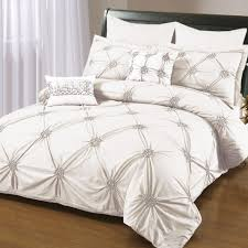 bold and modern grey ruched duvet cover sweetgalas white bedding set designs gray girls