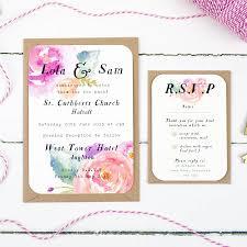 summer bloom wedding invitation